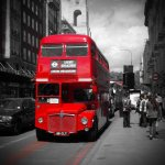 Photo of Routemaster bus, Baker Street, London